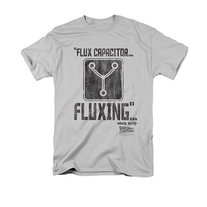 Back To The Future Men's Gray Flux Capactior Tee Shirt