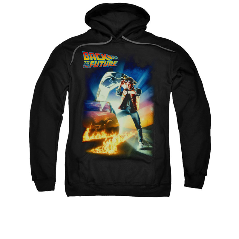 Back To The Future Poster Black Pullover Hoodie