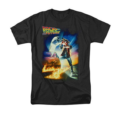 Back To The Future Men's Black Movie Poster Tee Shirt