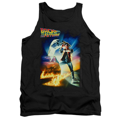 Back To The Future Poster Black Tank Top