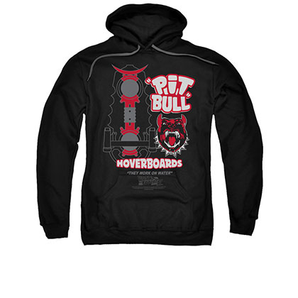 Back To The Future Pit Bull Hoverboards Black Pullover Hoodie