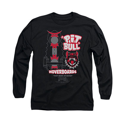 Back To The Future Pit Bull Hoverboards Black Long Sleeve T-Shirt