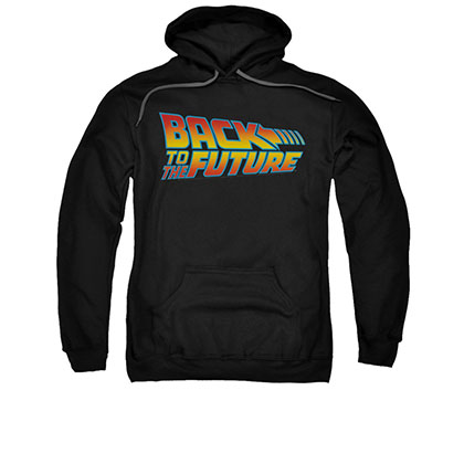 Back To The Future Logo Black Pullover Hoodie