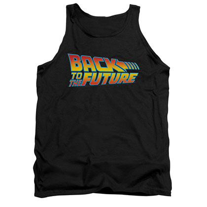 Back To The Future Logo Black Tank Top