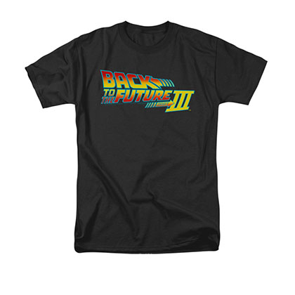 Back To The Future III Men's Black Movie Logo Tee Shirt