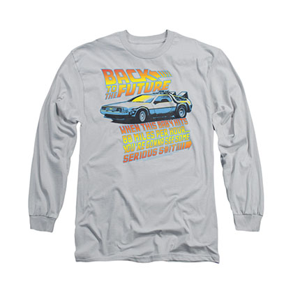 Back To The Future 88 MPH Gray Long Sleeve T-Shirt