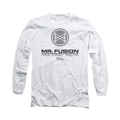 Back To The Future Mr. Fusion White Long Sleeve T-Shirt