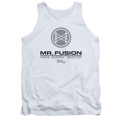 Back To The Future Mr. Fusion White Tank Top