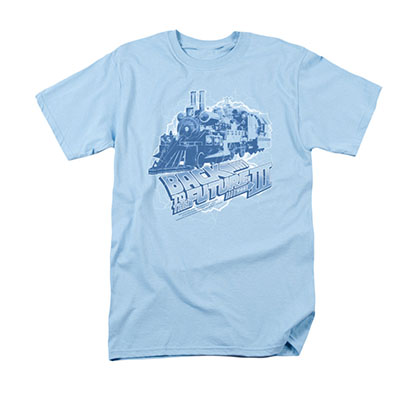 Back To The Future III Time Train Blue Tee Shirt