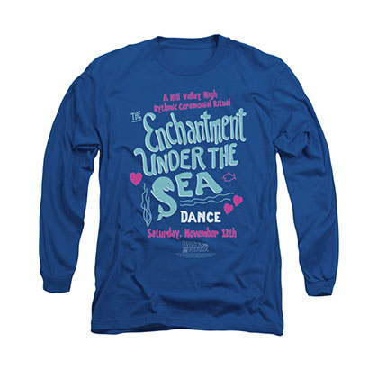 Back To The Future Enchantment Under The Sea Blue Long Sleeve T-Shirt