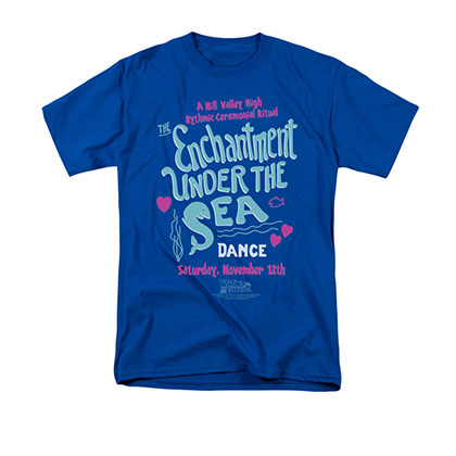 Back To The Future Men's Blue Enchantment Under The Sea Tee Shirt