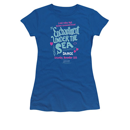 Back To The Future Enchantment Under The Sea Juniors Blue Tee Shirt