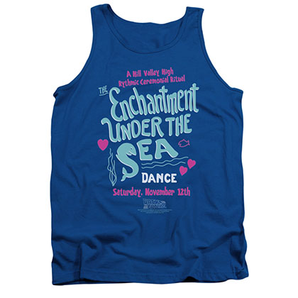 Back To The Future Under The Sea Blue Tank Top