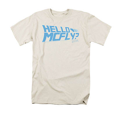 Back To The Future Hello McFly Cream Tee Shirt