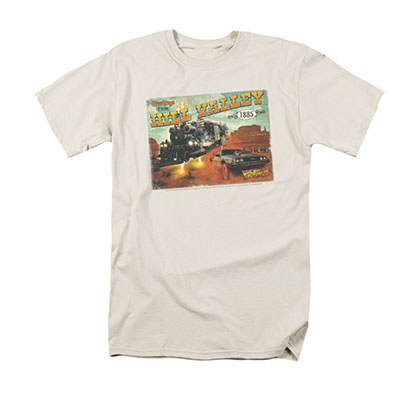 Back To The Future III Hill Valley Postcard Cream Tee Shirt
