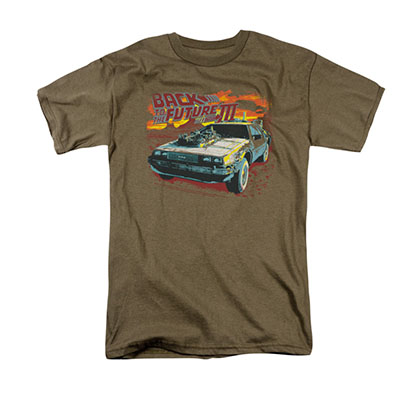 Back To The Future III Wild West Brown Tee Shirt