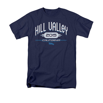 Back To The Future II Hill Valley 2015 Blue Tee Shirt