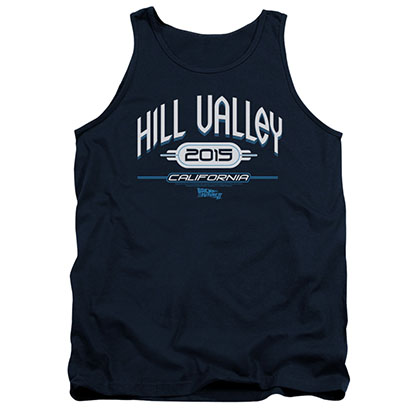 Back To The Future Hill Valley 2015 Blue Tank Top