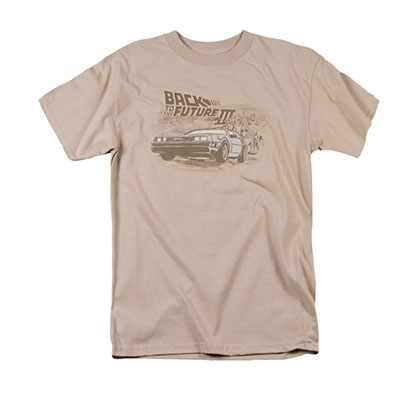Back To The Future III Men's Beige Cowboys And Indians Tee Shirt