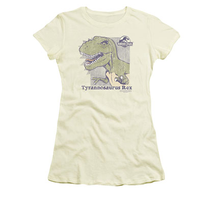 Jurassic Park Retro Rex Cream Juniors Tee Shirt