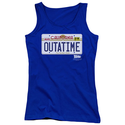 Back To The Future OUTATIME Blue Juniors Tank Top
