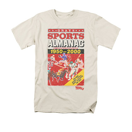 Back To The Future II Men's Off-White Sports Almanac Tee Shirt