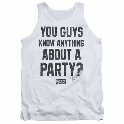 Dazed And Confused Party Time White Tank Top
