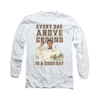 Scarface Above Ground White Long Sleeve T-Shirt