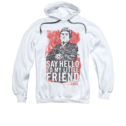 Scarface Say Hello White Pullover Hoodie