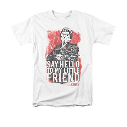 Scarface Men's White Little Friend Tee Shirt