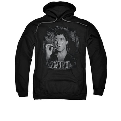 Scarface Smokey Scar Black Pullover Hoodie