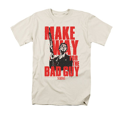 Scarface Men's Off-White Make Way For The Bad Guy Tee Shirt