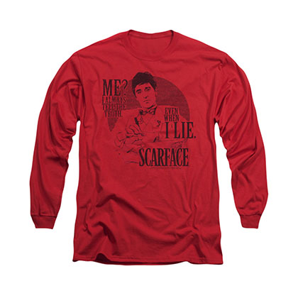 Scarface Truth Red Long Sleeve T-Shirt