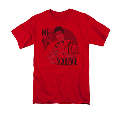 Scarface Men's Red Tell The Truth Tee Shirt