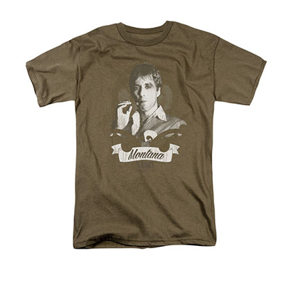 Scarface Men's Brown Tony Montana Tee Shirt