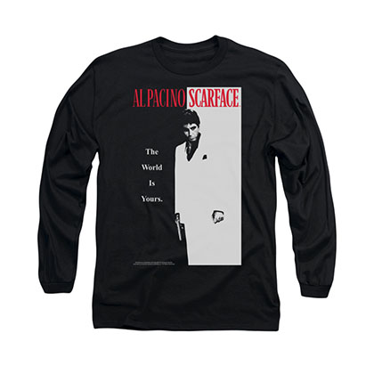 Scarface Poster Black Long Sleeve T-Shirt