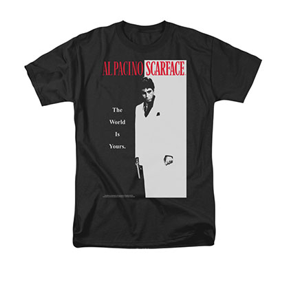 Scarface Men's Black Classic Poster Tee Shirt