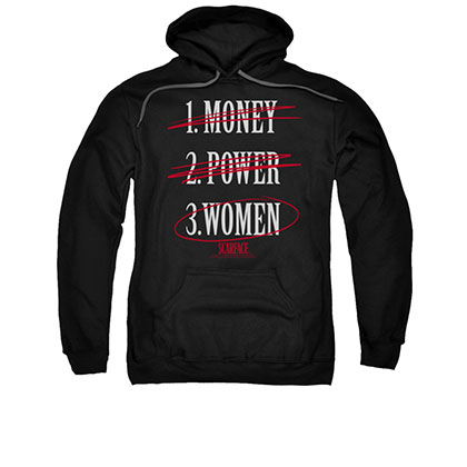 Scarface Money Power Women Black Pullover Hoodie