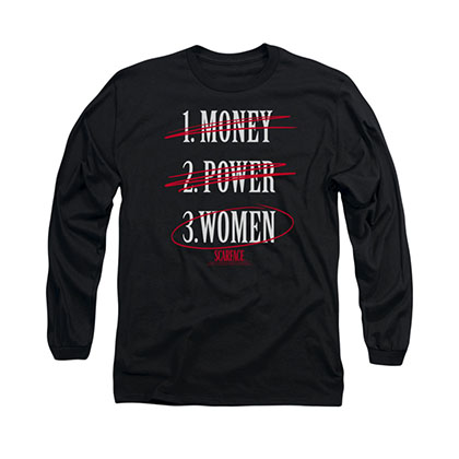 Scarface Money Power Women Black Long Sleeve T-Shirt