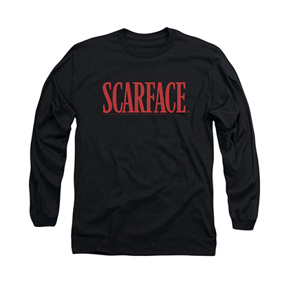 Scarface Logo Black Long Sleeve T-Shirt