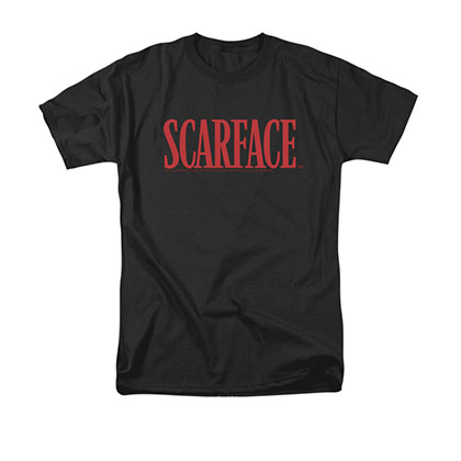 Scarface Men's Black Classic Logo Tee Shirt