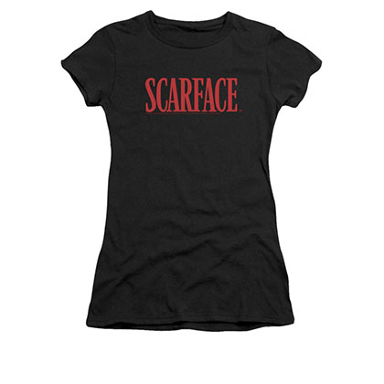 Scarface Juniors Black Classic Logo Tee Shirt