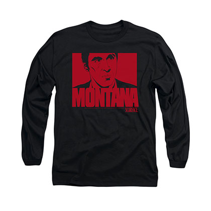 Scarface Montana Face Black Long Sleeve T-Shirt