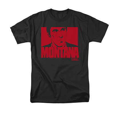 Scarface Men's Black Montana Face Tee Shirt