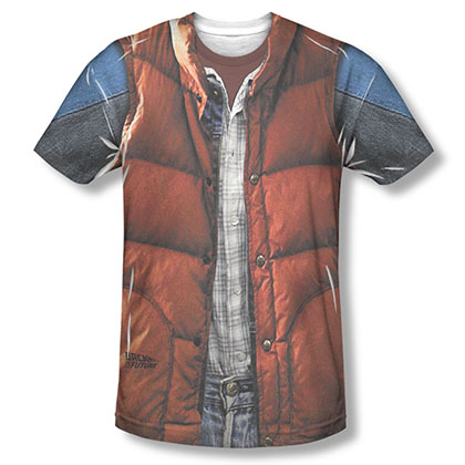 Back To The Future Marty McFly Vest Costume Sublimation T-Shirt