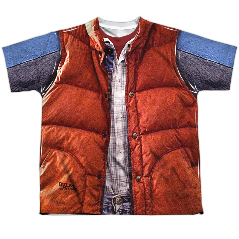 Back to the Future Marty McFly Vest Youth Costume Tshirt