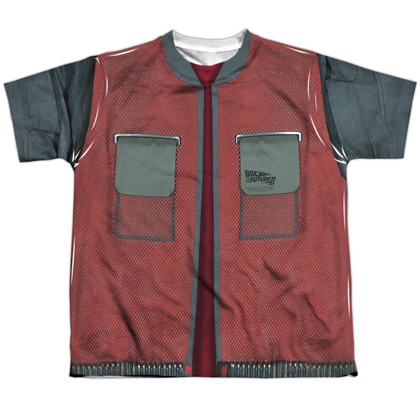Back To The Future Jacket Youth Costume Tee