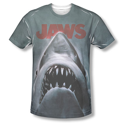 Jaws Movie Poster Sublimation T-Shirt