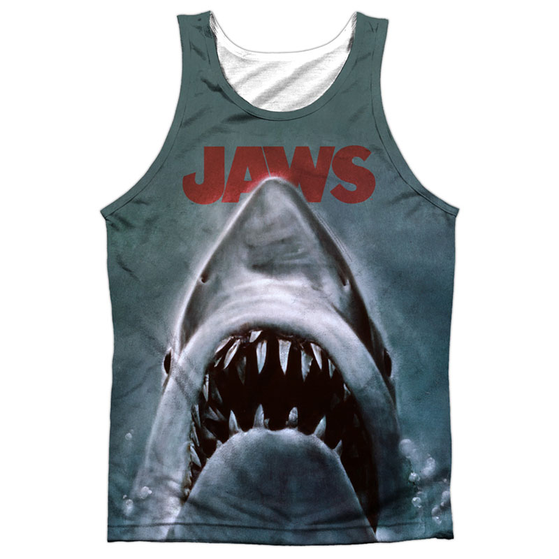 Jaws Poster Sublimation Tank Top