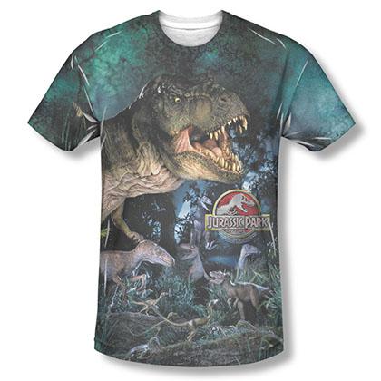 Jurassic Park Dinos Gather Sublimation T-Shirt